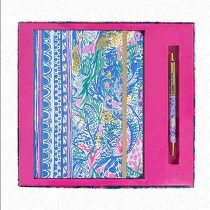 "Lilly Pulitzer, ""Mermaid's Cove"" Journal & pen NWT"